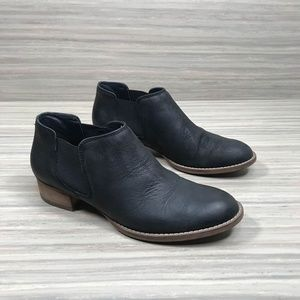 Paul Green • Leather Black Ankle Booties